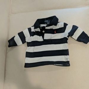 Ralph Lauren Blue Rugby Polo shirt 9 months